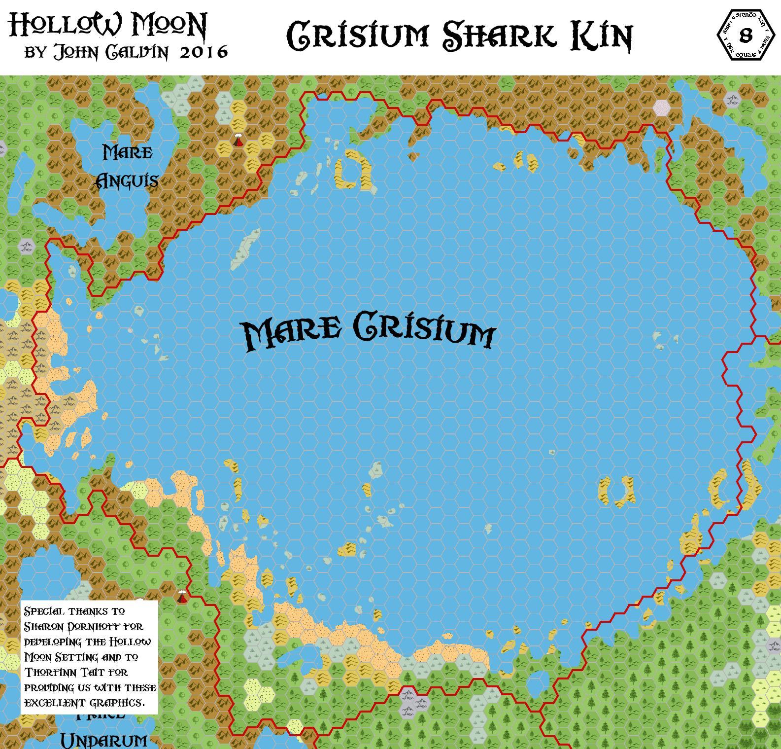 Crisium Shark-kin, 8 miles per hex